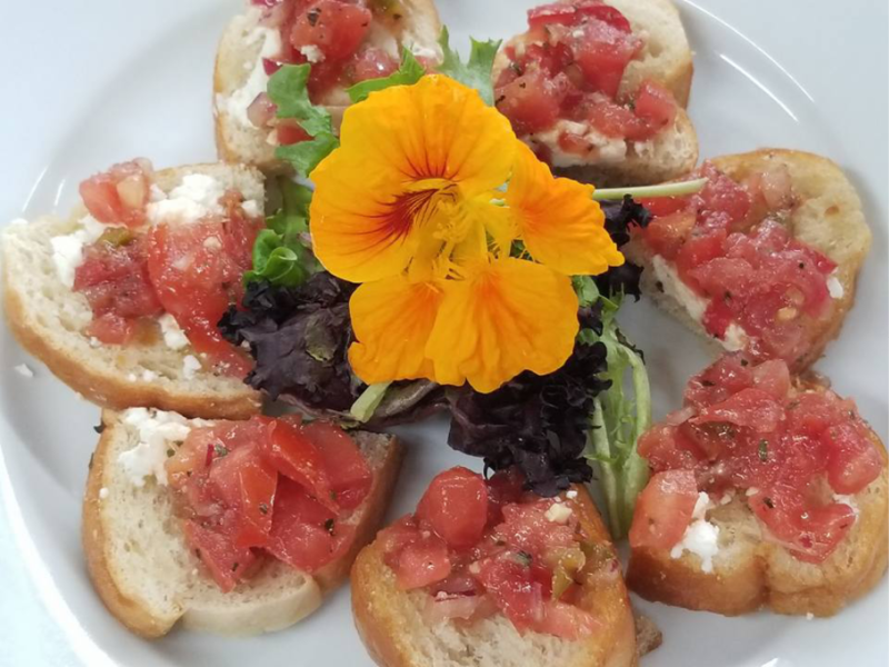 Bruschetta Tuscan Garlic Crostini with Feta