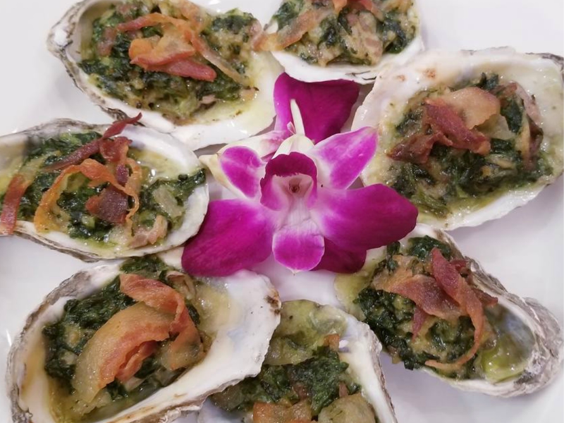 Oysters Rockefeller or Half Shell